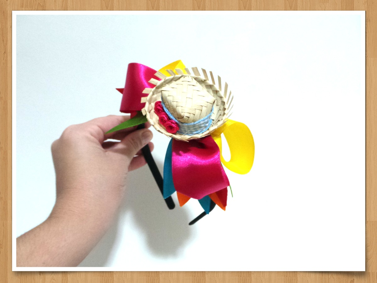 344b32eb07470 tiara festa junina enfeite cabelo caipira mini chapéu. Carregando zoom.