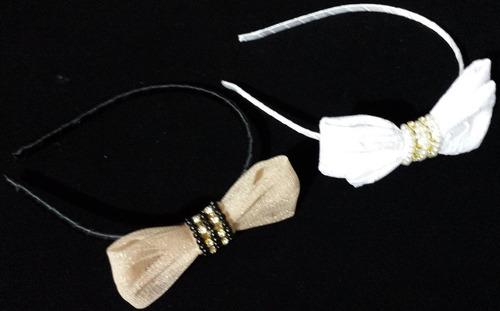 tiara laço com detalhes de pérolas & strass - acrin