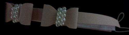 tiara luxo para bebê com lacinhos e pérolas - acrin