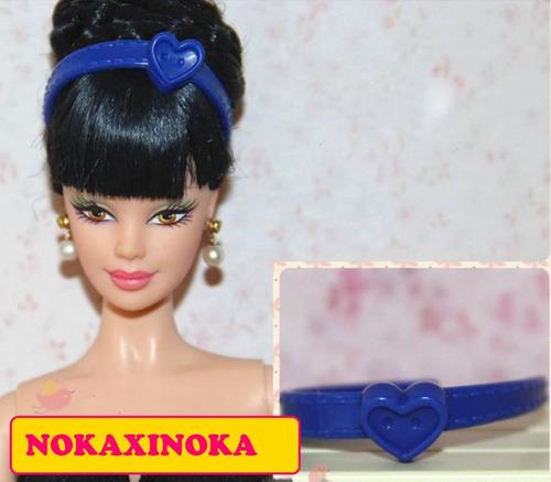 tiara original fashion coração para boneca barbie ou skipper