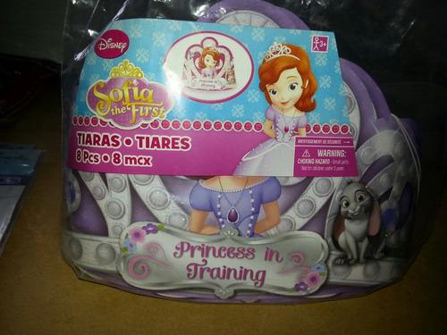 tiara para fiesta infantil de princesa sofía 8 unidades