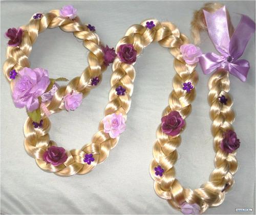 tiara trança rapunzel elsa anna frozen 1 metro