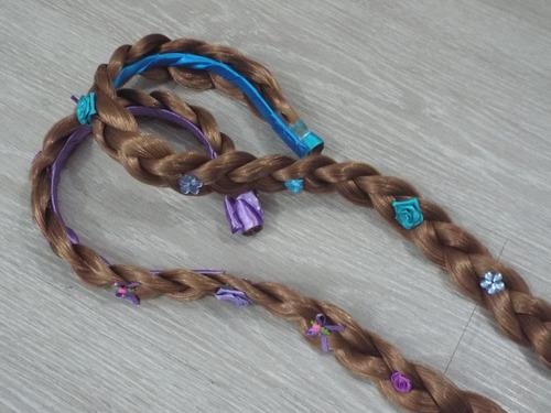 tiaras trança rapunzel enrolados ou elsa froze/laço 1,5 cm