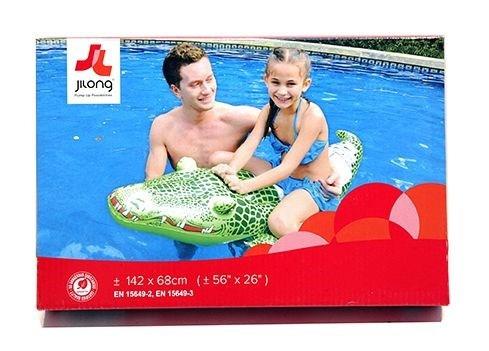 tiburon/cocodrilo inflable p/pileta, con manijas