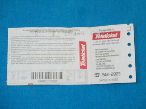 ticket entrada del recuerdo - luis miguel en lima 2002