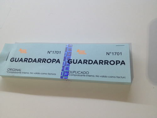 ticket p/barras consumicion boliche rifas trago pulseras vip
