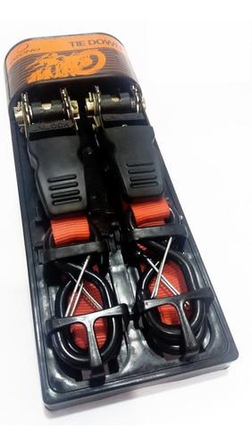 tie downs eslinga con tensor  pack de 2 amarras para motos