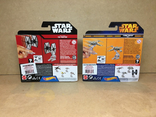 tie fighter & x-wing hot wheels metalico coleccion star wars