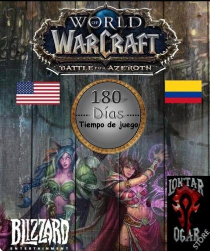 tiempo de juego 180 dias, world of warcraft, wow, token