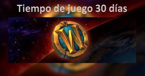 tiempo de juego 30 días world of warcraft, token, ficha, wow
