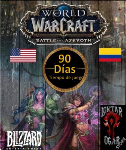 tiempo de juego 90 dia, world of warcraft, token, ficha, wow