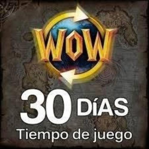 tiempo de juego wow 30 dias de juego entrega inmediata