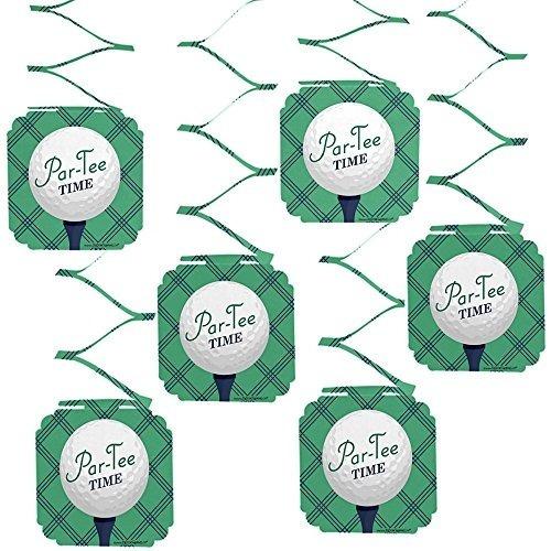 tiempo par-tee - golf - decoraciones colgantes para cumplea