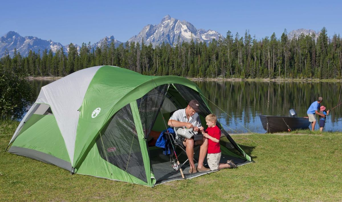 coleman 10 man tent instructions