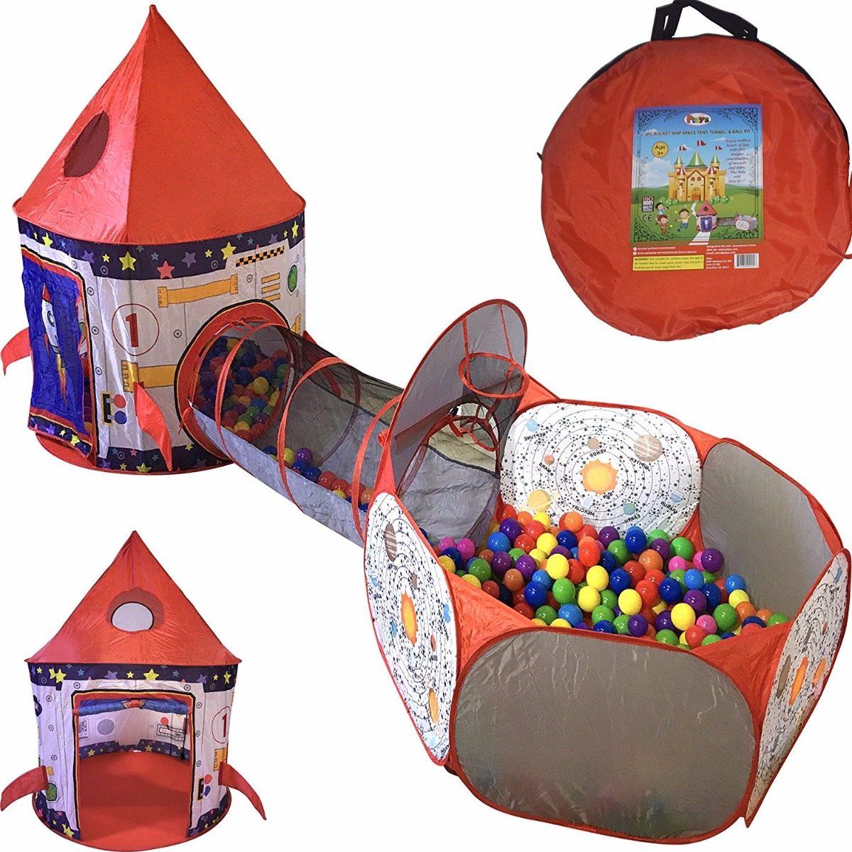 1fjktcul3 Tienda Tunel Juguete Xozupkit Para Pelotas Pozo Niños Cohete n8mOvwNy0