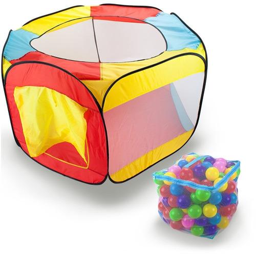 tienda de bolas multicolores portatil cuadrada con 100 bolas