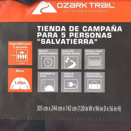 tienda de campaña casa 5 personas ozark salva tierra premium