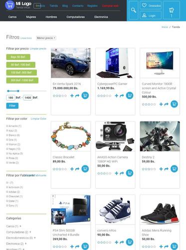 tiendas virtuales - páginas web -blog-noticias-clasificados