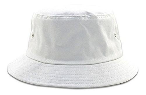 tiendas,pesca en blanco cubo hat - blanco - grande  extr..