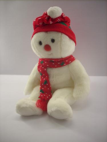 tiernísimo peluche navideño ( mono de nieve).