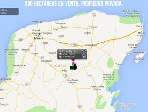 tierra agrícola, 300 has oxkutzcab yucatán ruta puc