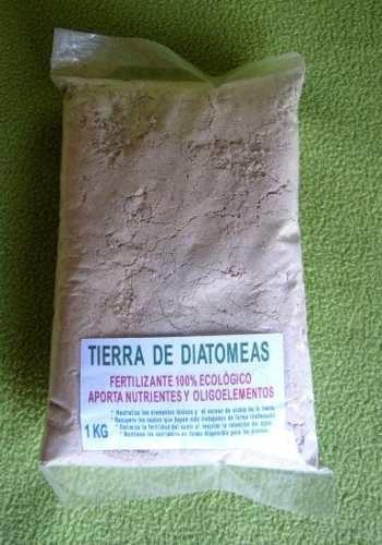 tierra de diatomeas 100% ecologico fertilizante, 500 grs