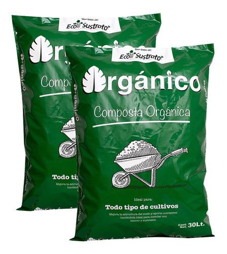 tierra negra composta orgánica cultivo, 2 bolsas de 30 lts