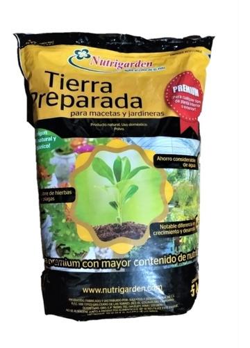 tierra preparada premium 5kg. con perlita, corteza, coco
