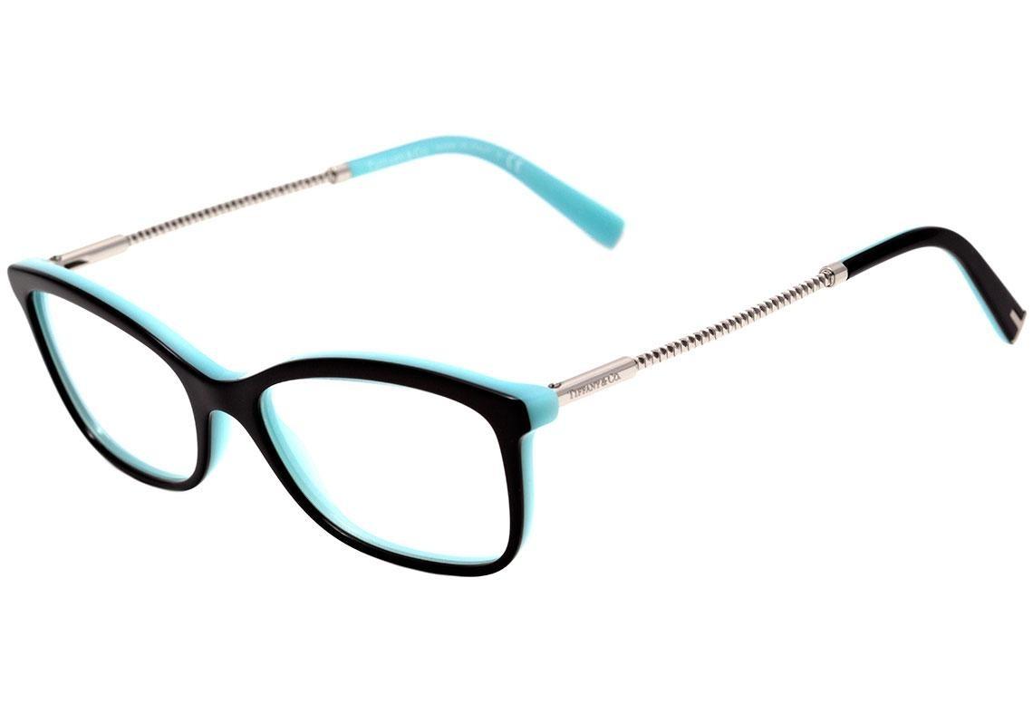 1f4928e8d Tiffany & Co. Tf 2169 - Óculos De Grau 8055 Preto E Azul Bri - R ...