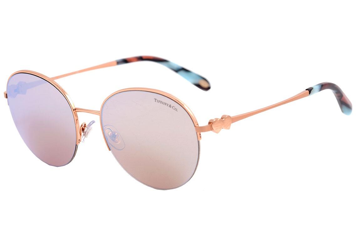 d30f7fbae5c06 tiffany   co. tf 3053 - óculos de sol 6109 64 rosê brilho . Carregando zoom.