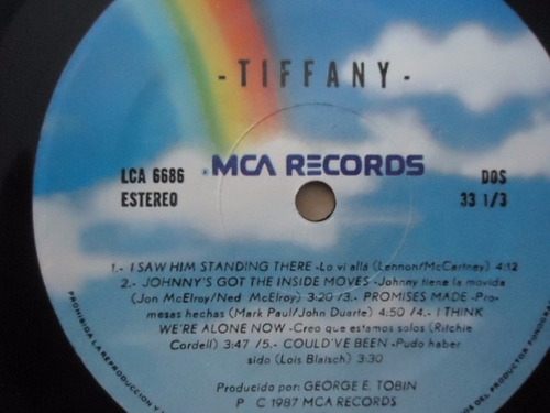 tiffany / i think we're alone now vinyl lp acetato