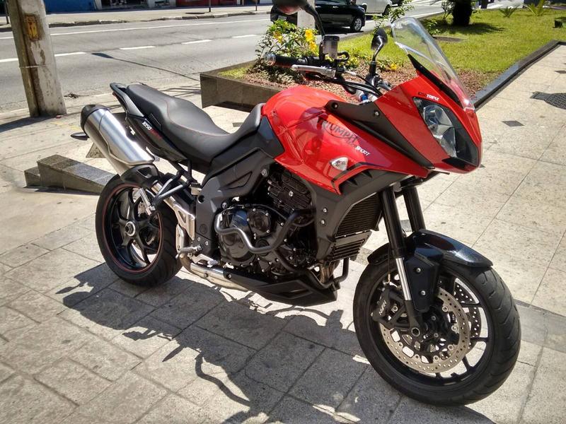 tiger sport 1050 2015 maravilhosa muito nova troco moto fina