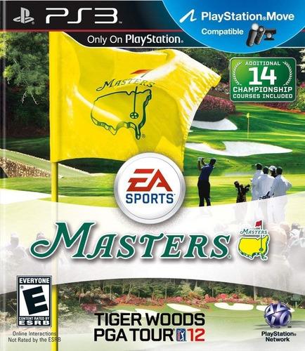 tiger woods pga tour 12 the masters ps3 original