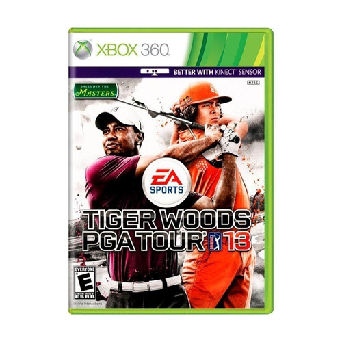 tiger woods pga tour 13 golf xbox 360 kinect sensor semi-nov