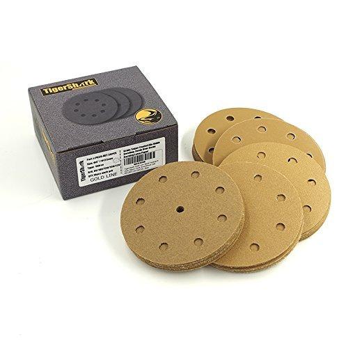 tigershark discos lijado de 5 pulgadas y 9 agujero arena 80/