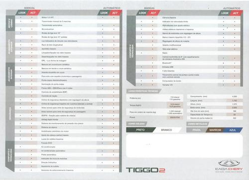 tiggo 2 look  automática somente para *(pcd)*