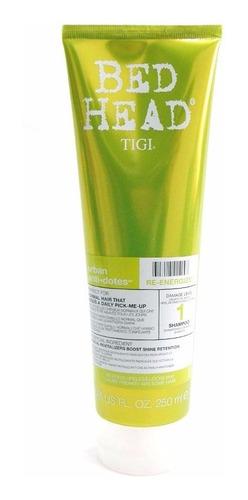 tigi bed head re energize shampoo 250 ml hidratacion normal