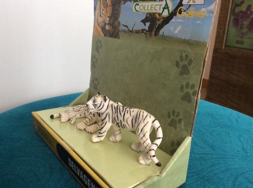 tigre branco e filhotes - gulliver/collecta selvagens