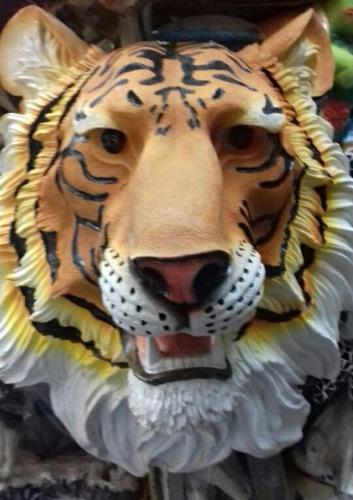 Tigre Cabeza De Resina En Mercado Libre