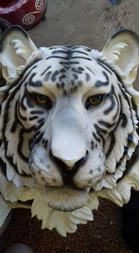 tigre de bengala cabeza de resina