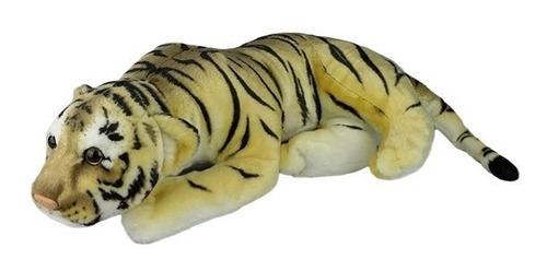 tigre de pelúcia deitado filhote fofy médio