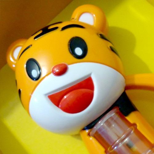 tigre musical encantado com som e luz bebê buba 9666