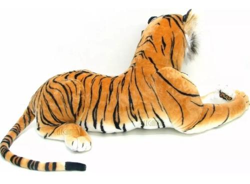 tigre onça bicho pelúcia grande real presente criança 115 cm