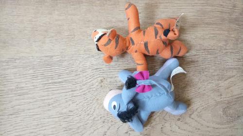 tigrão e bisonho de pano do ursinho pooh mcdonald's