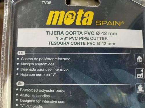 tijera cortacaño pvc mota tv08 hasta 42mm de diametro
