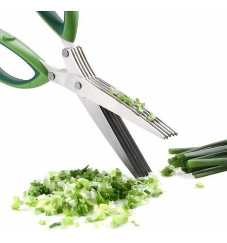 tijera de 5 cuchillas verduras