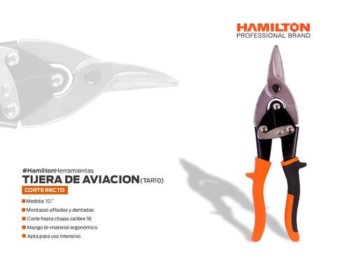 tijera de aviacion recta 250 mm tar10 hamilton