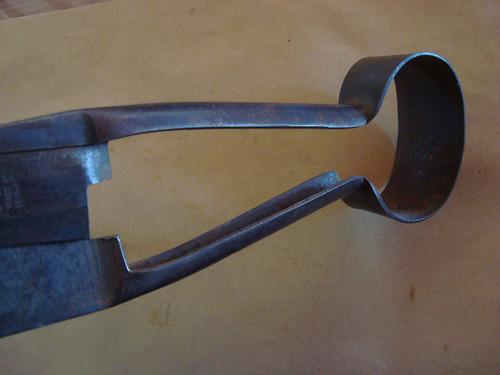 tijera de tuzar antigua bigornia 35,3 cm de largo