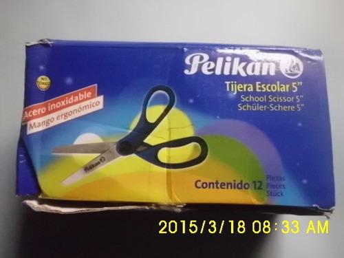 tijera escolar mango ergonómico marca pelikan