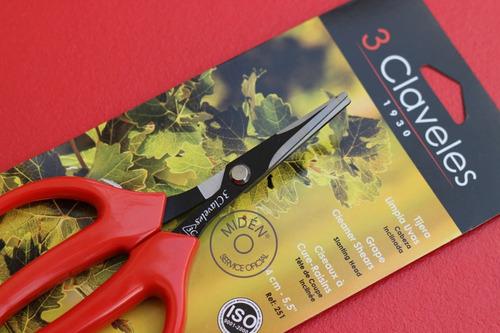 tijera limpia uvas 3 claveles modelo 251 (españa)